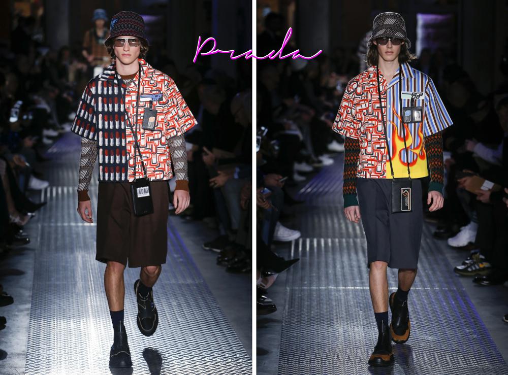 ... que lembra a moda surf do começo dos anos 2000, com direito à chapéu  balde e estampas ousadas. Os óculos retangulares, acompanham a tendência  com estilo ... 0778b4c62b